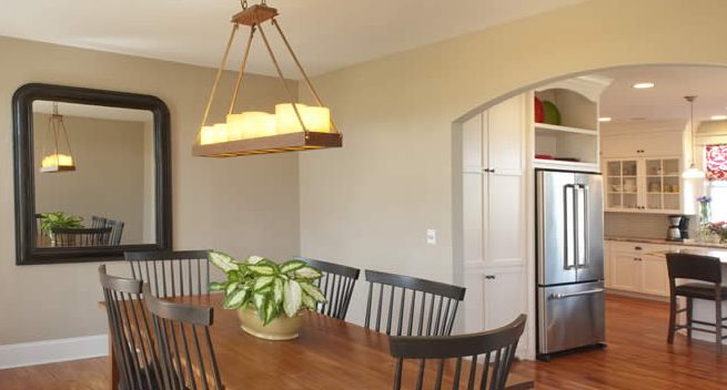 hardwood flooring in the dining room
