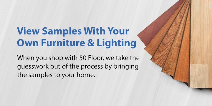 View hardwood flooring samples at home