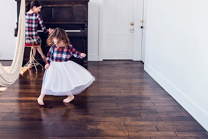 Farmhouse Wood Flooring with Wide Planks
