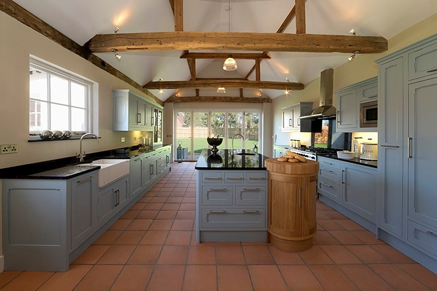Farmhouse Kitchen with Tile Flooring