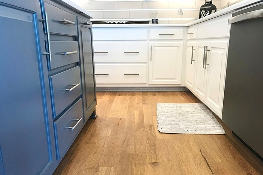 Natural Looking Wood Flooring in Kitchen