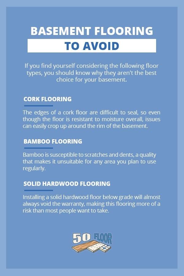 Basement Flooring to Avoid