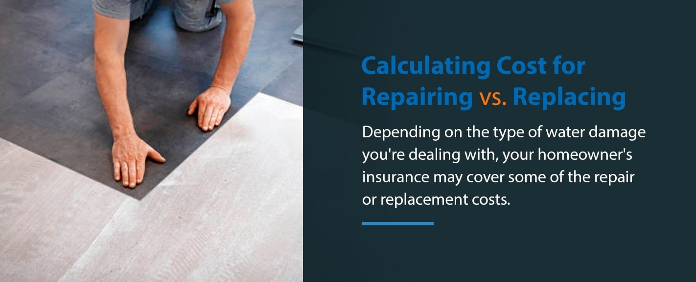 Calculating Cost for Replacing vs Repairing Floors