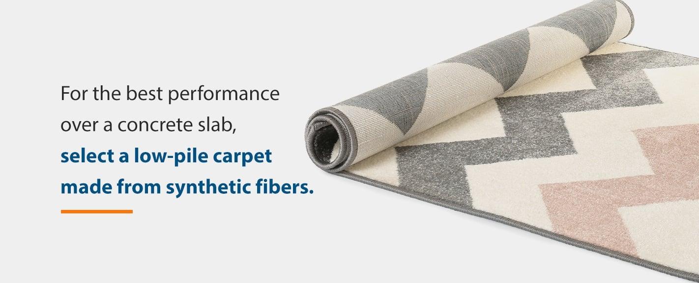 Low-pile carpet