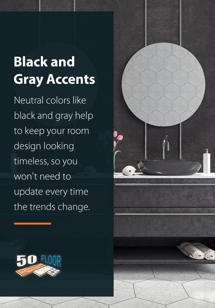 Black and Grey Bathroom Accents