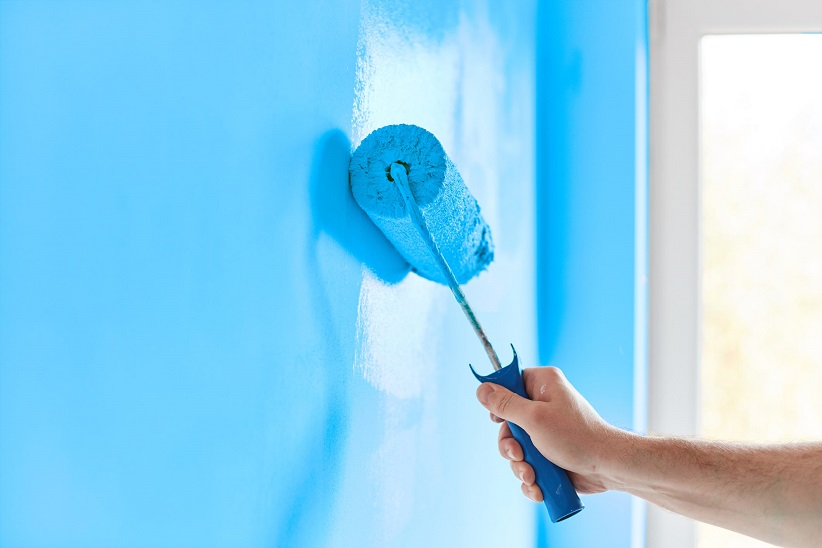 Painting with Blue Paint