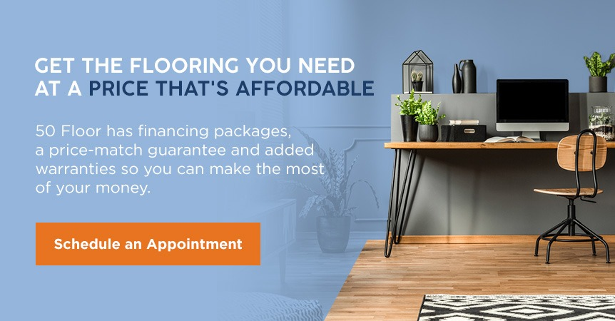 schedule an appointment to find office flooring from 50 Floor