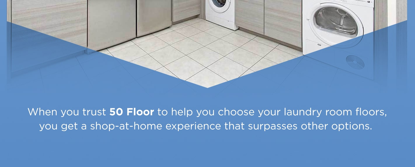 Trust 50 Floor for laundry room flooring