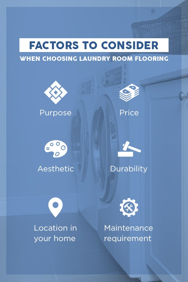 Laundry room flooring factors to consider