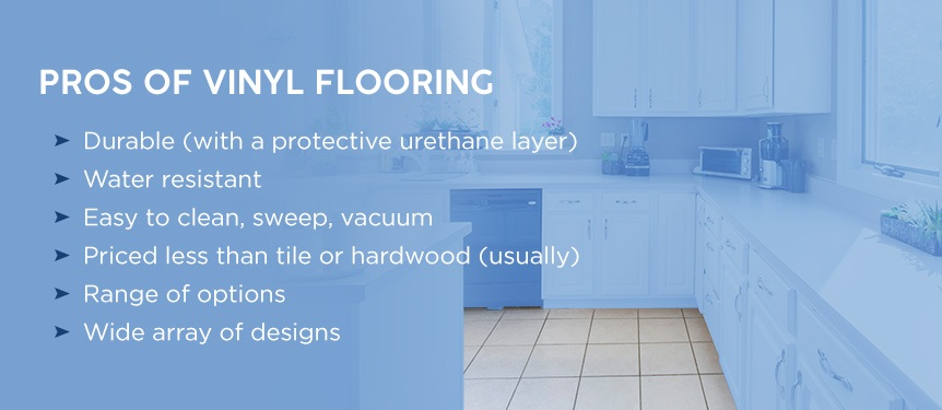 pros of vinyl flooring for kitchens