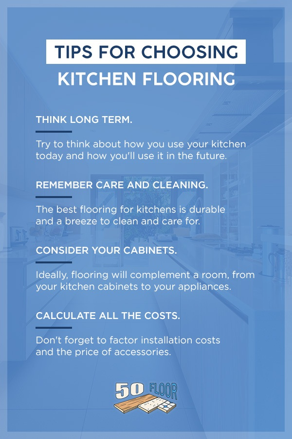 tips for choosing kitchen flooring