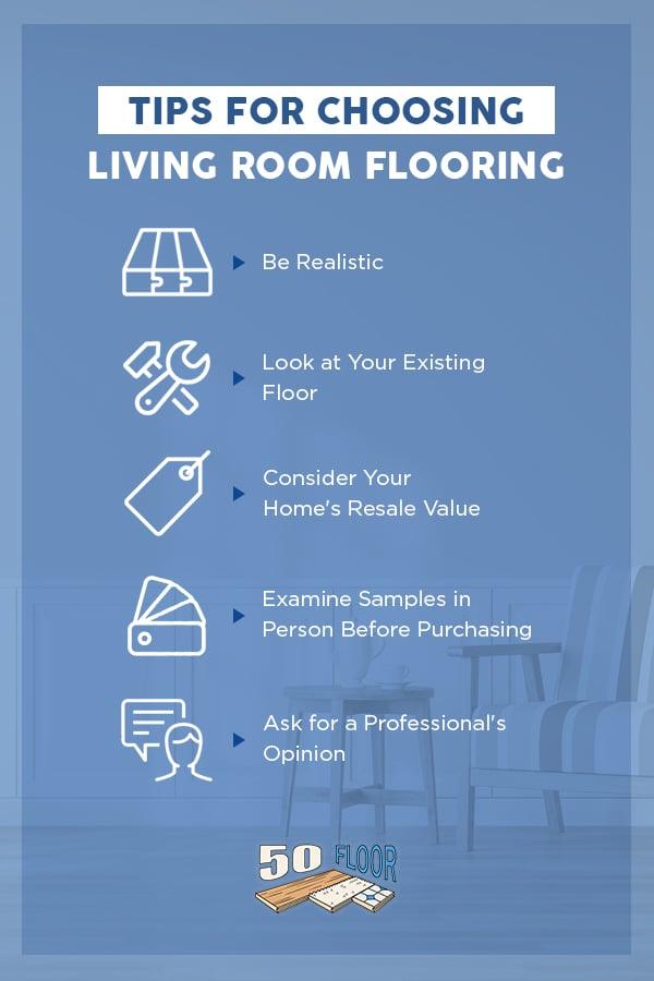 Tips for Choosing Living Room Flooring
