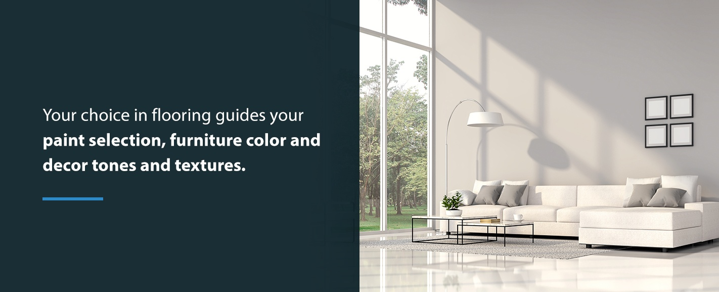 Flooring Choice Guides Paint Selection and Furniture Color