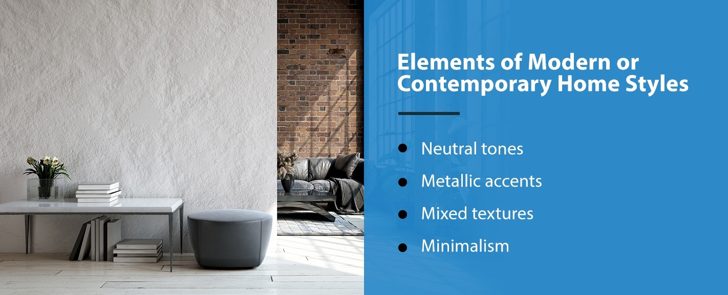 Elements of Contemporary Home Styles