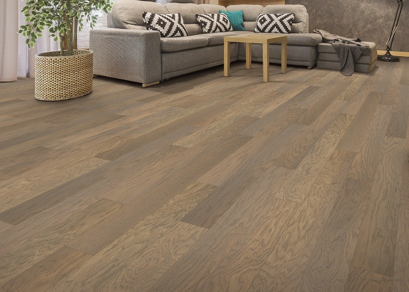 Hardwood Floor Room With Couch