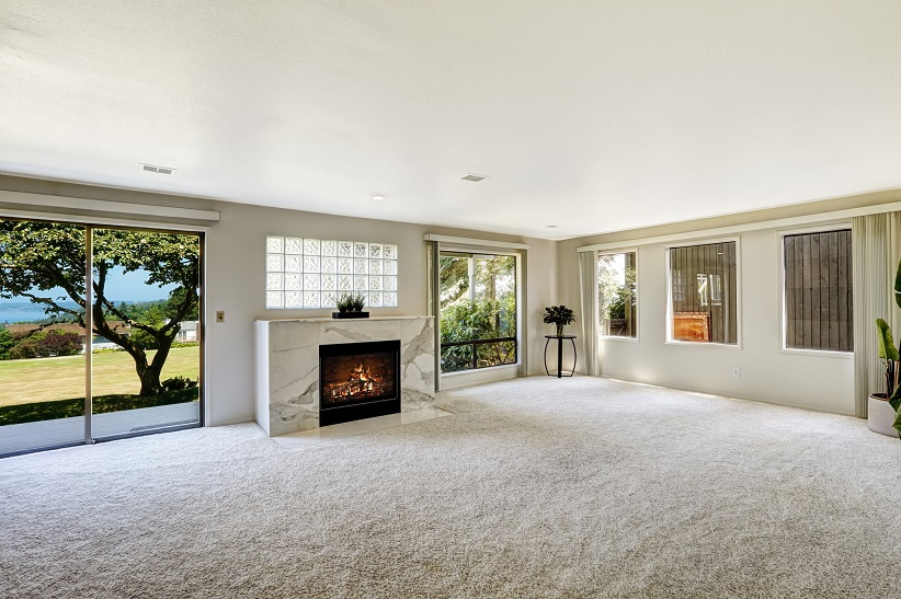 Living Room with Carpet Floors