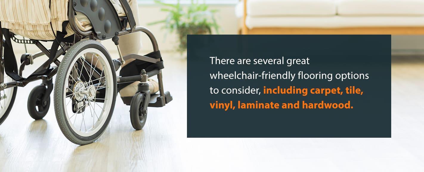 wheelchair-friendly flooring options