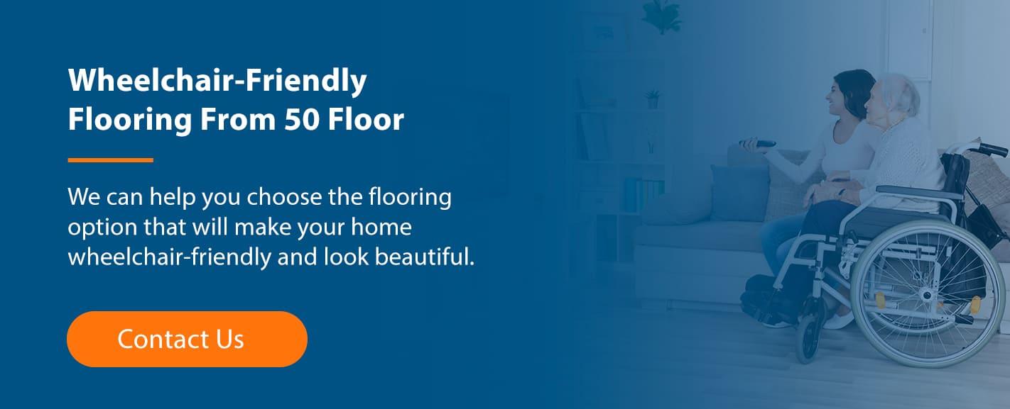 Wheelchair-friendly flooring