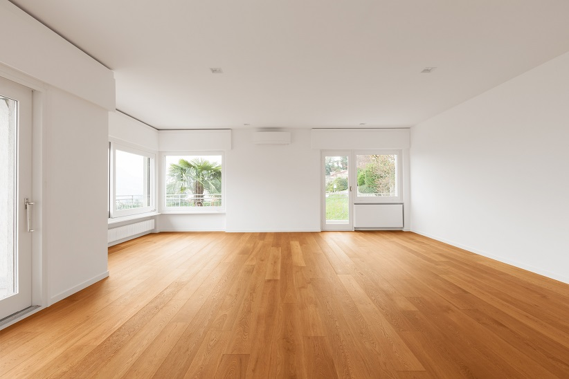home with wood flooring