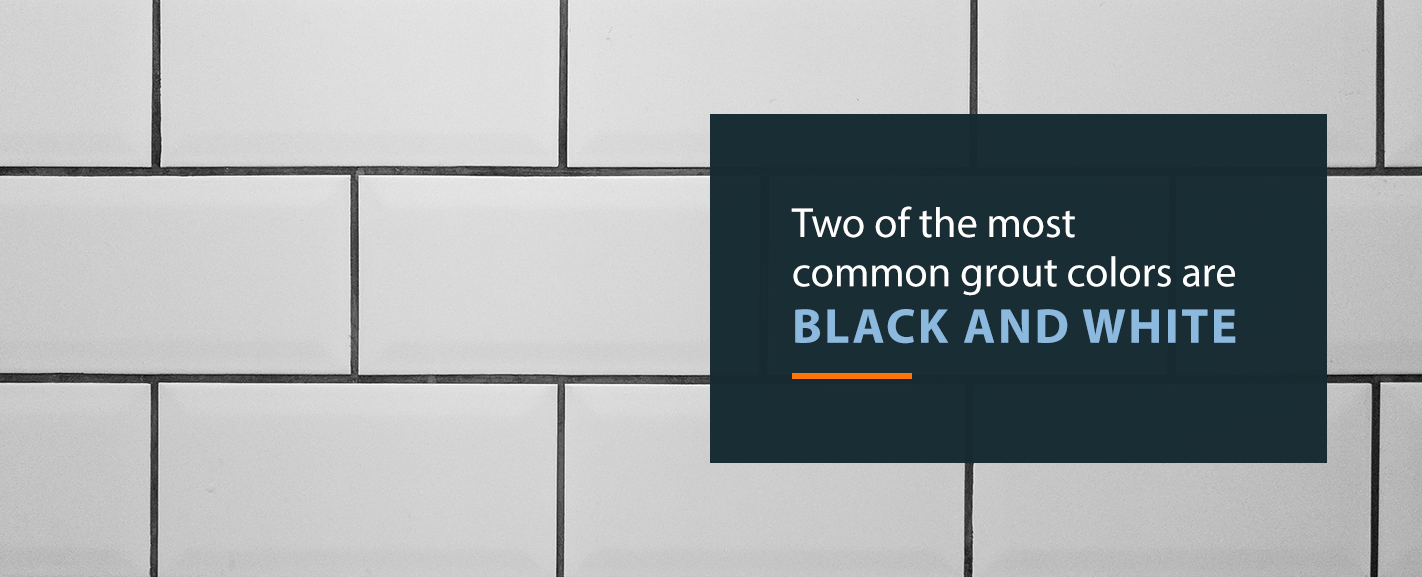 Black and White Tile Grout