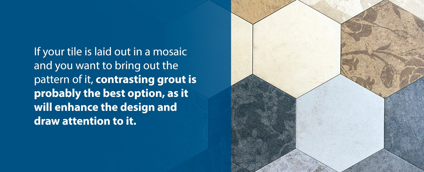 Tile mosaic pattern