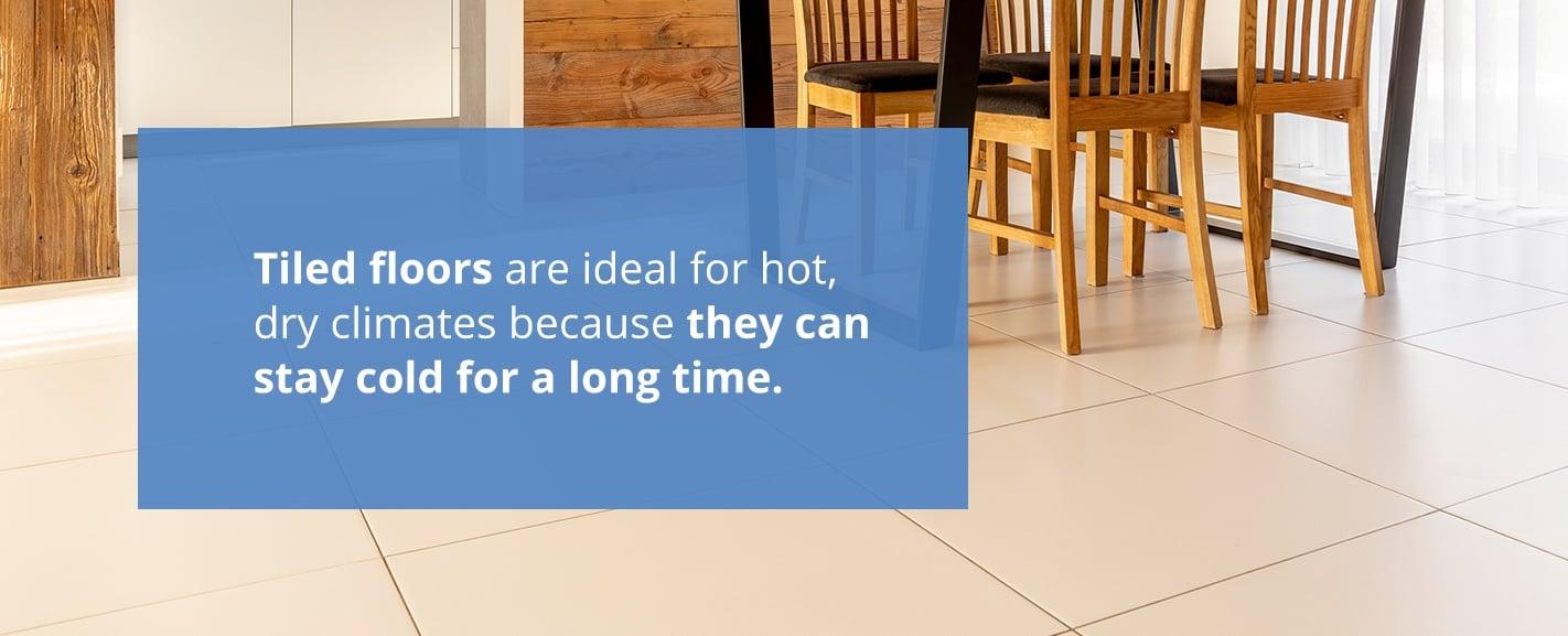 Sıcak ve kuru iklimler için karo döşeme