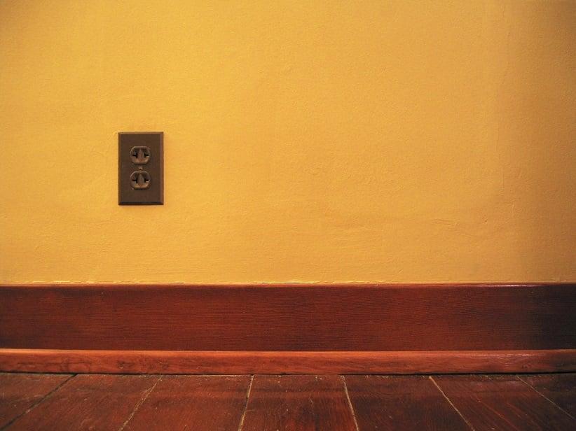 hardwood flooring and baseboard