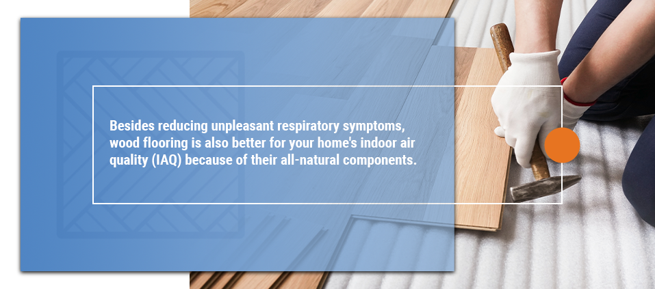 wood floor for better air quality