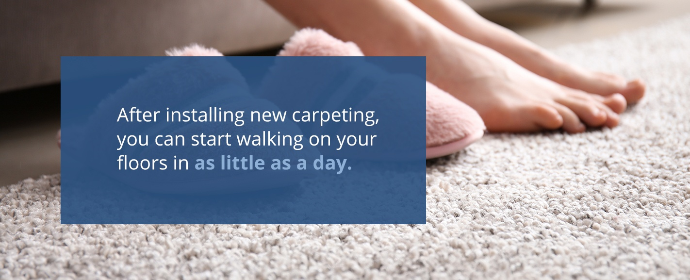 How Soon Can You Walk on New Carpeting?