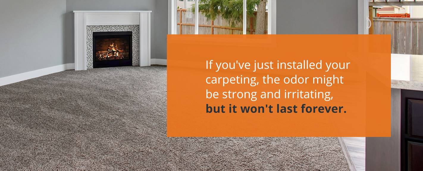 carpet odor after installation