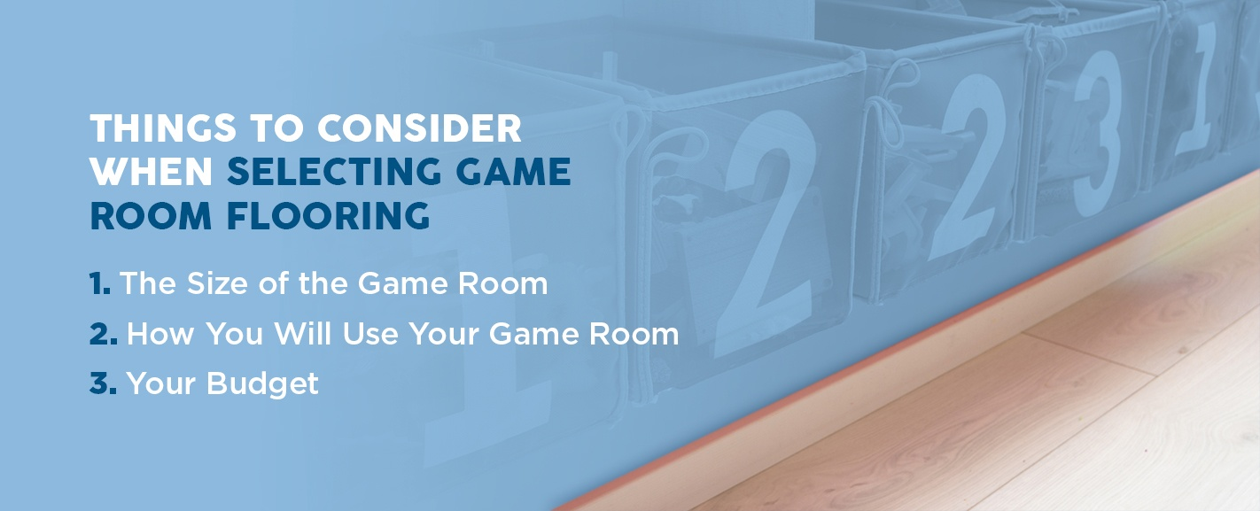 Things to Consider When Selecting Game Room Flooring