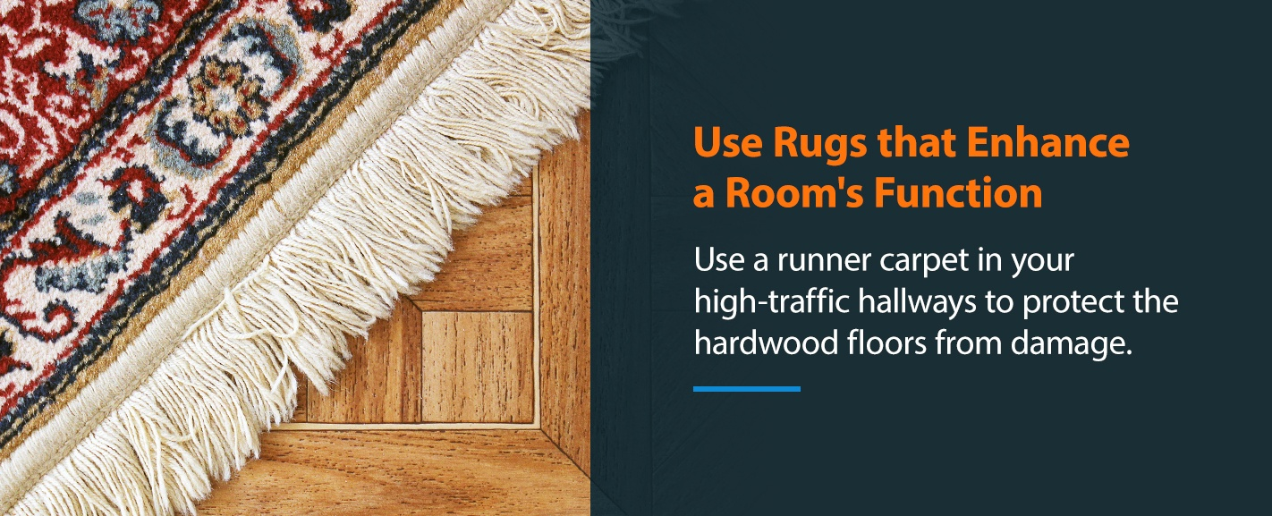 Use Rugs that Enhance a Room's Function