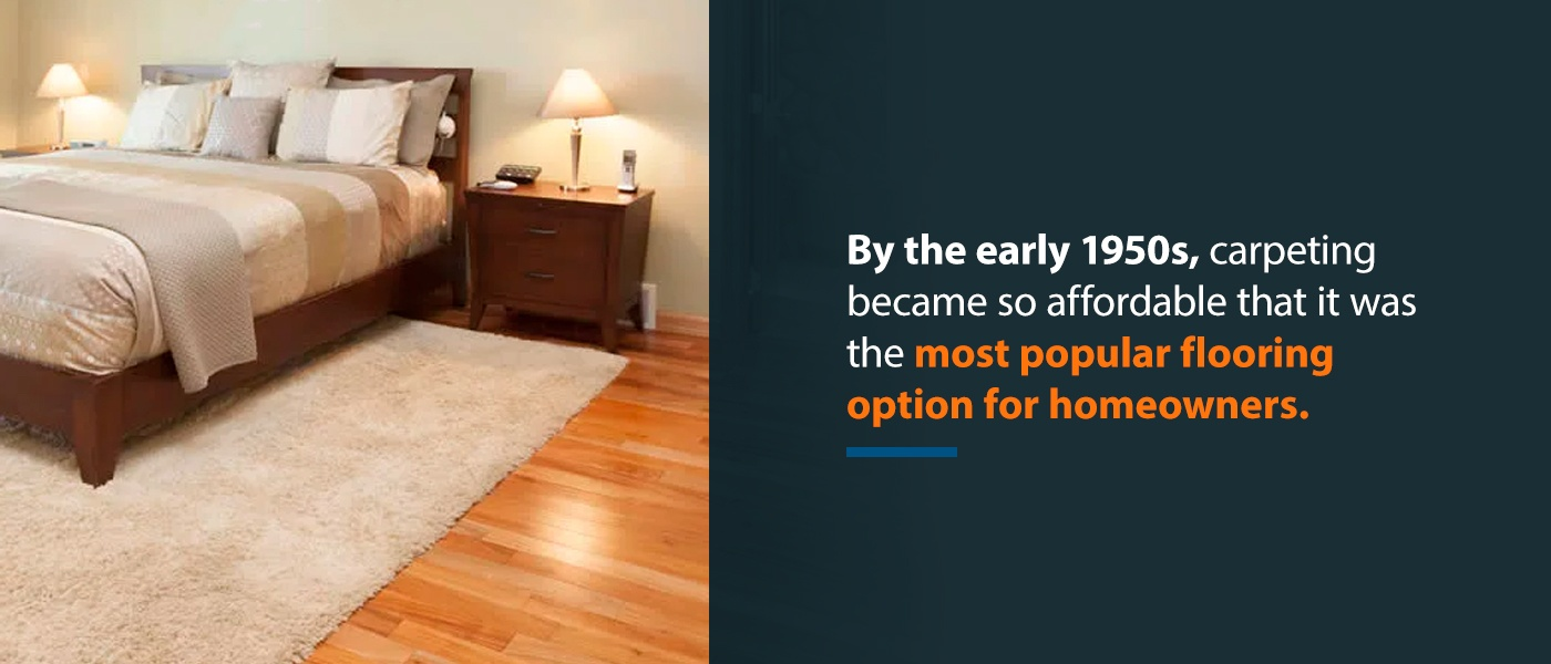 1950s carpet was the most popular flooring option