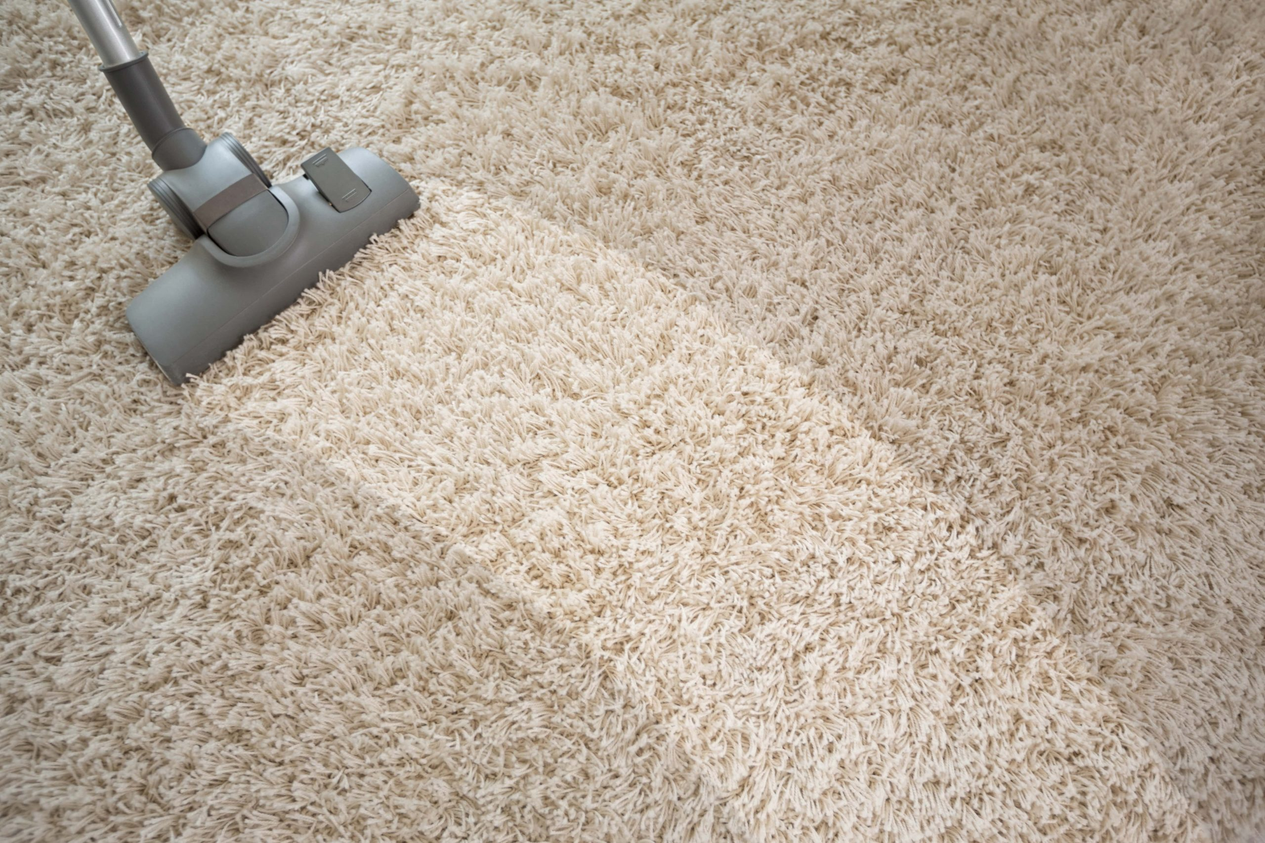 vacuuming carpet