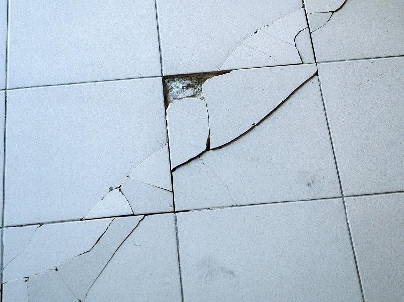cracked tile floor