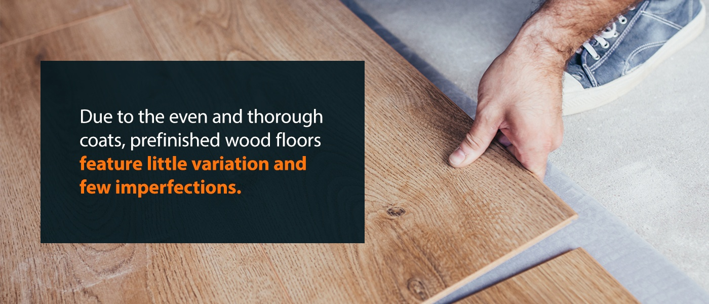 prefinished wood floors feature little variation