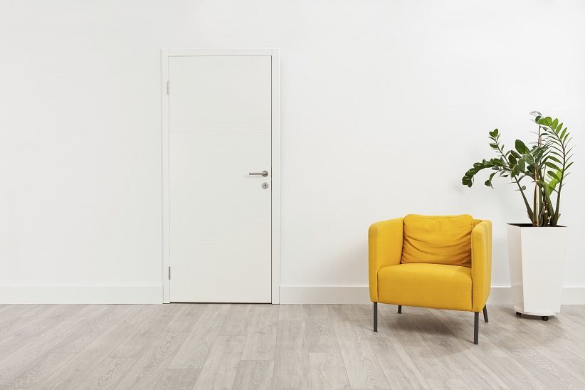 Yellow Chair in Hallway
