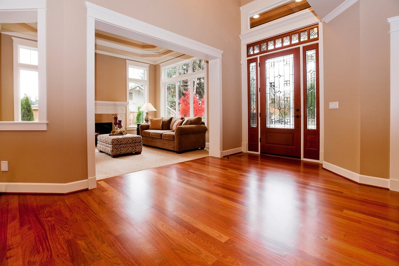 room with wood floors