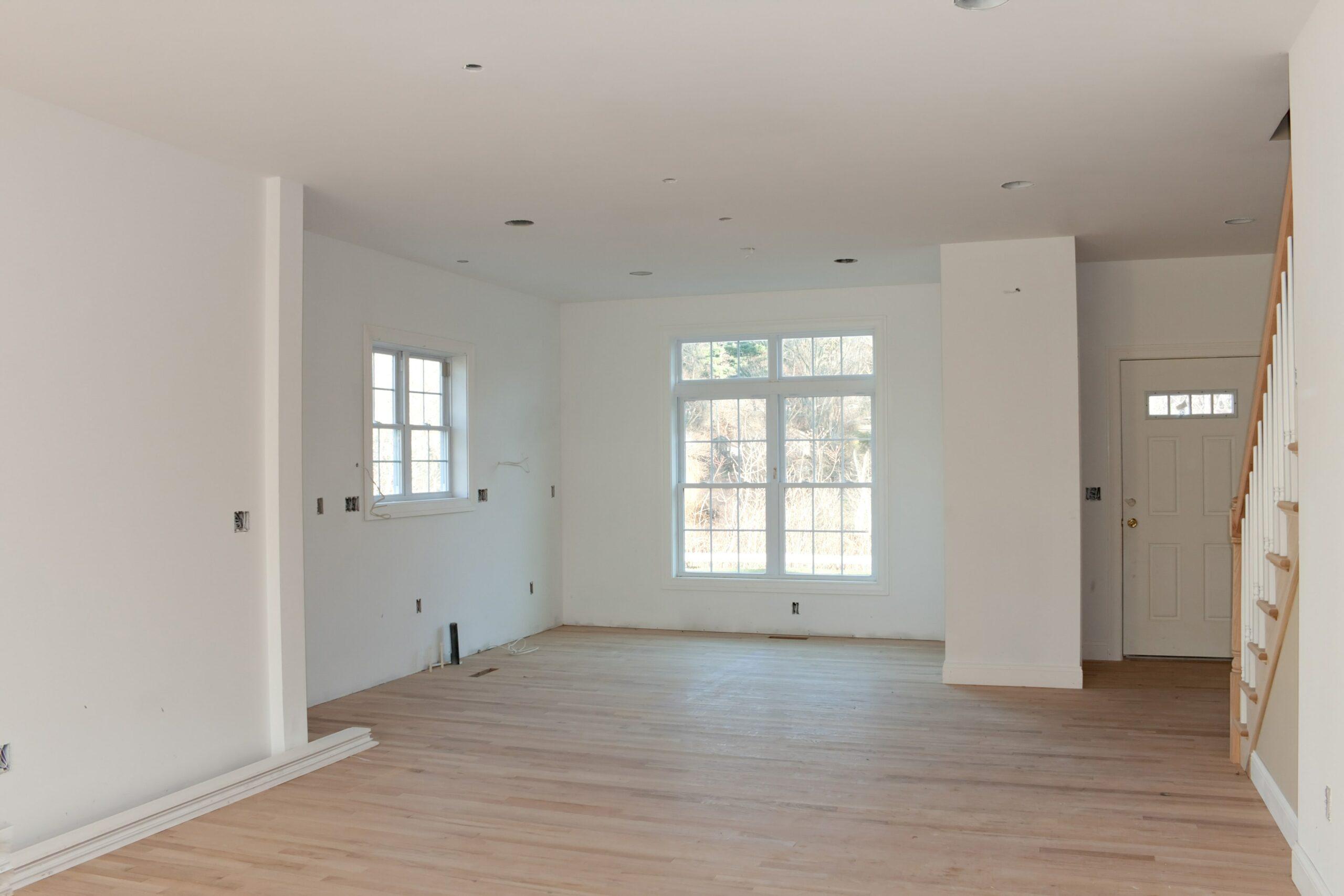 room with wood floors