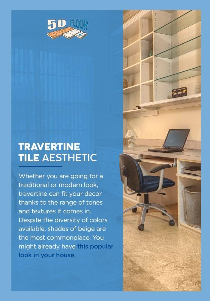 Travertine Tile Aesthetic
